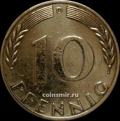 10 пфеннигов 1970 D Германия ФРГ.