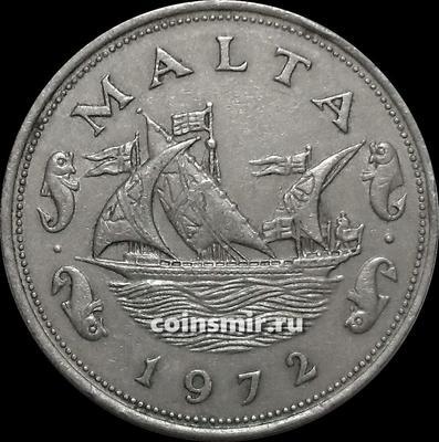 10 центов 1972 Мальта. Парусник.