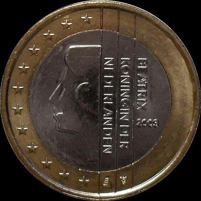 1 евро 2003 Нидерланды. Беатрикс.