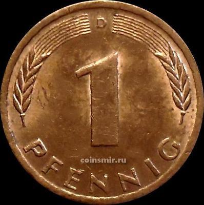 1 пфенниг 1973 D Германия (ФРГ).
