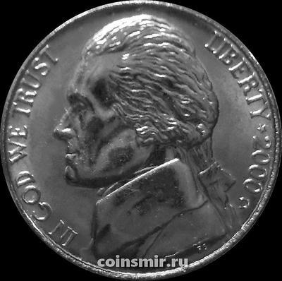 5 центов 2000 D США. Томас Джефферсон. UNC