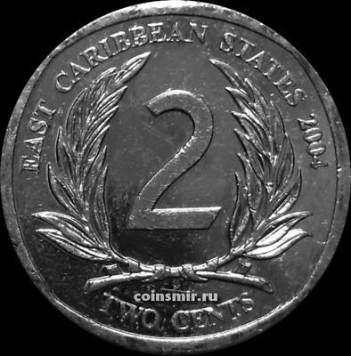 2 цента 2004 Восточные Карибы.