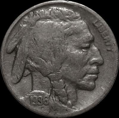 5 центов 1936 D США. Индеец.