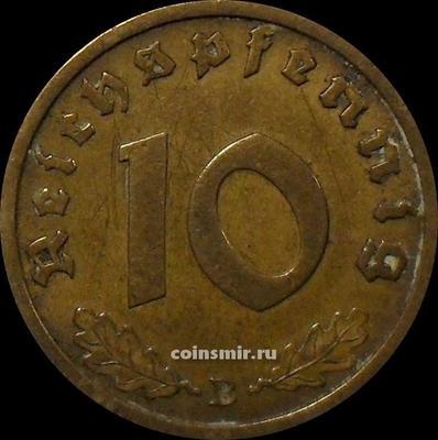 10 пфеннигов 1939 В Германия.