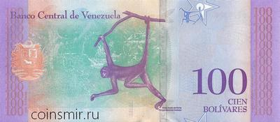 100 боливаров 2018 Венесуэла.