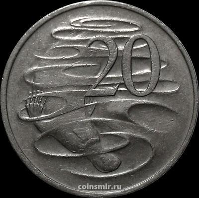 20 центов 1977 Австралия. Утконос.