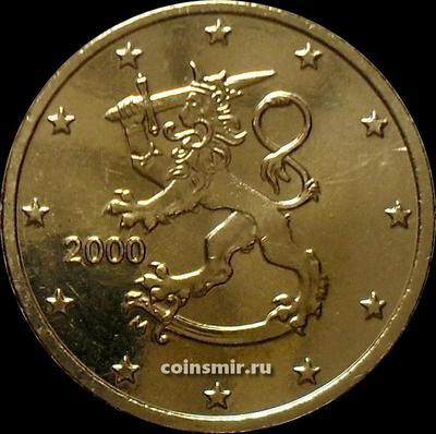 50 евроцентов 2000 М Финляндия. UNC.