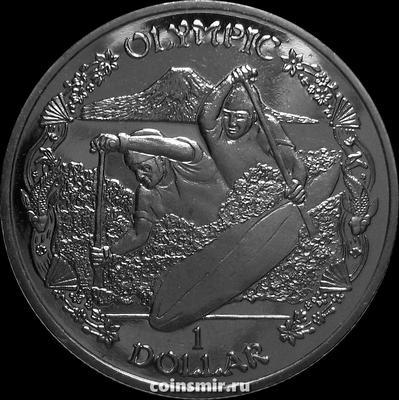 1 доллар 2019 Британские Виргинские острова. Каякинг. Олимпиада в Токио 2020.
