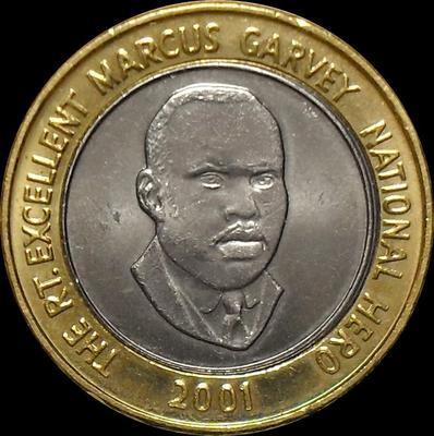 20 долларов 2001 Ямайка. UNC