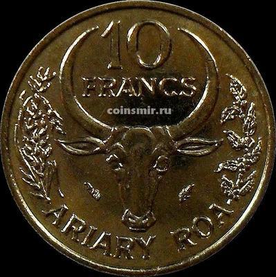 10 франков (2 ариари) 1984 Мадагаскар. ФАО. Ваниль.