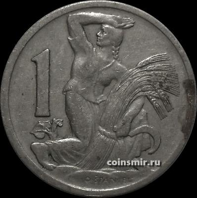 1 крона 1929 Чехословакия.