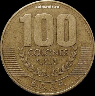 100 колонов 1999 Коста-Рика.