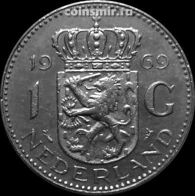 1 гульден 1969 Нидерланды. Рыба.