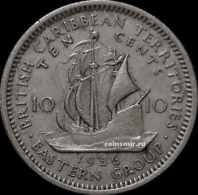 10 центов 1956 Британские Карибские территории.