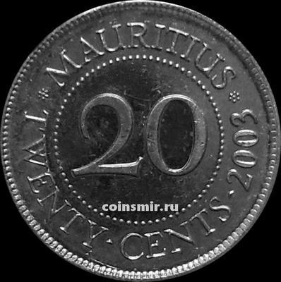 20 центов 2003 Маврикий.