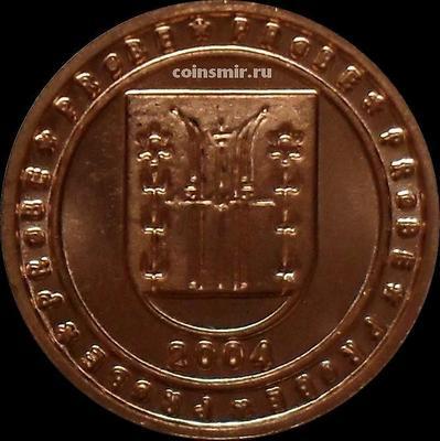2 евроцента 2004 Норвегия. Герб. Европроба. Ceros.