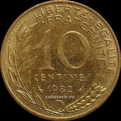 10 сантимов 1982 Франция.