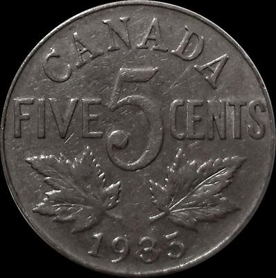 5 центов 1935 Канада.