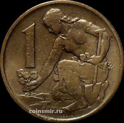 1 крона 1969 Чехословакия.