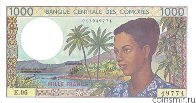 1000 франков 1984-2004 Коморские острова.