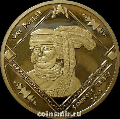 1 доллар 2019 племя Семинолы.