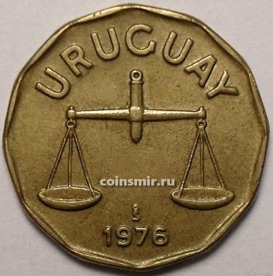 50 сентесимо 1976 Уругвай. Весы.