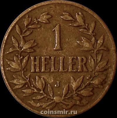 1 геллер 1905 J Германская Восточная Африка.