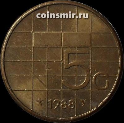 5 гульденов 1988 Нидерланды.