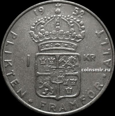 1 крона 1952 TS Швеция.