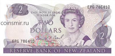 2 доллара 1981-1992 Новая Зеландия.