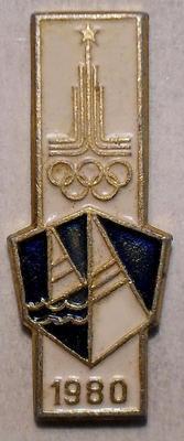 Значок Парусный спорт. Олимпиада 1980 в Москве.