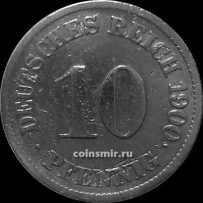 10 пфеннигов 1900 J Германия. Состояние на фото.