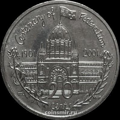 20 центов 2001 Австралия. Виктория. 100-летие Федерации.