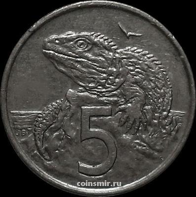 5 центов 2002 Новая Зеландия. Туатара (Новозеландская ящерица).