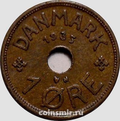 1 эре 1935 N;GJ Дания.