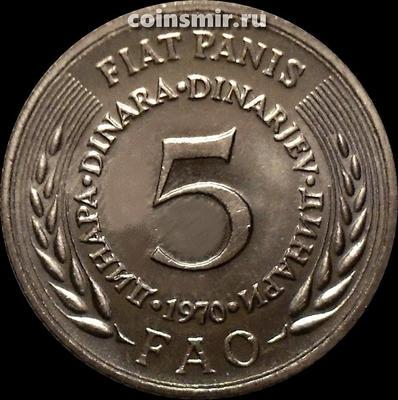 5 динар 1970 Югославия. ФАО.