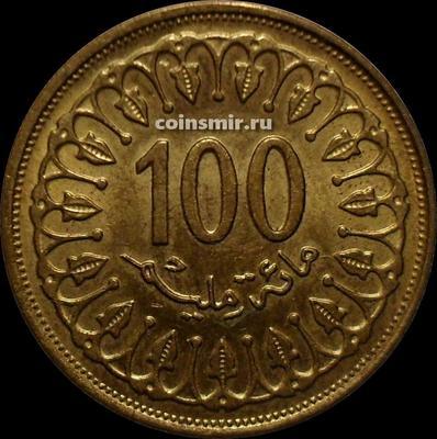 100 миллим 1993 Тунис.