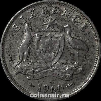 6 пенсов 1960 Австралия.