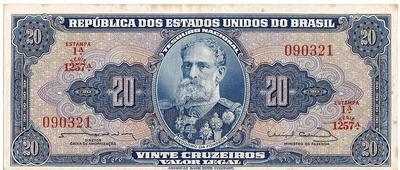 20 крузейро 1961-1963 Бразилия.