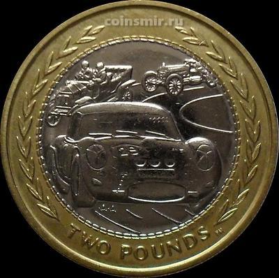 2 фунта 1998 остров Мэн. Автомобиль.