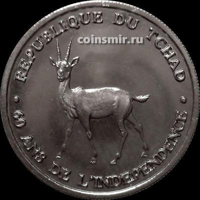 100 франков 2020 Чад. Антилопа. 60 лет независимости.
