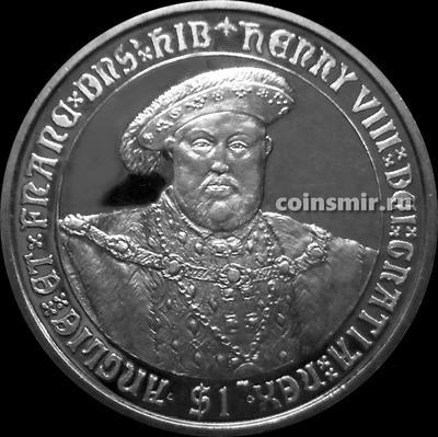 1 доллар 2007 Британские Виргинские острова. Генрих VIII.