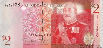 2 паанга 2009 Тонга.