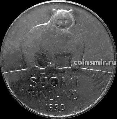 50 пенни 1990 М Финляндия. Медведь.