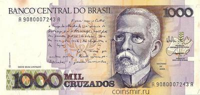 1000 крузадо 1987-1988 Бразилия.
