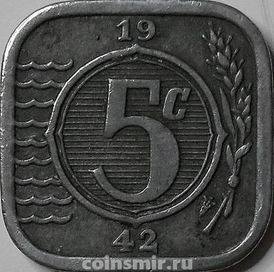 5 центов 1942 Нидерланды.