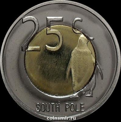 25 центов 2013 Южный полюс. Пингвин.