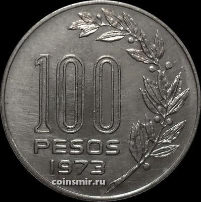100 песо 1973 Уругвай.