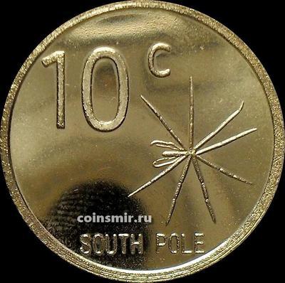 10 центов 2013 Южный полюс.