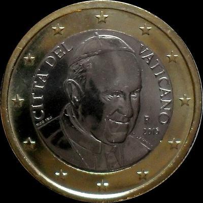 1 евро 2015 Ватикан.